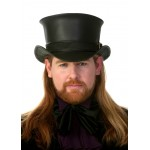 2015 FASHION STYLISH BLACK BUCKLE GENUINE LEATHER TOP HAT FOR MENS