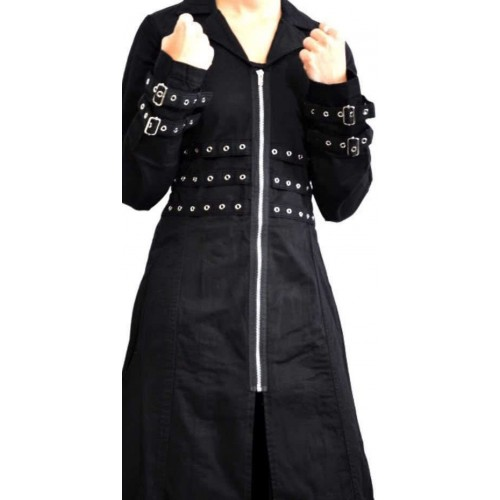 GOTHIC TRIPP NYC COAT WITH EYELETS