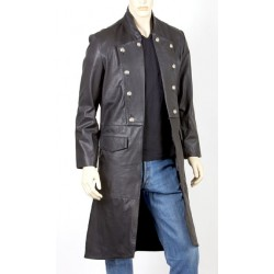 GOTHIC TRENCH COAT FOR MENS GENUINE LEATHER