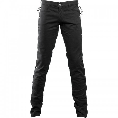 Gothic Black loop jeans denim black cotton material