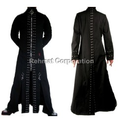 GOTHIC STYLE MENS COTTON COAT STEAMPUNK WITH BUTTONS