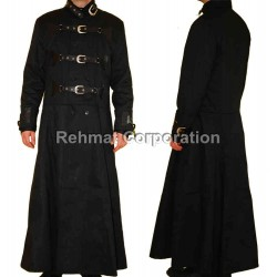 GOTHIC COTTON COAT STEAMPUNK GOTH WITH BUCKLES ON FRONTSIDE