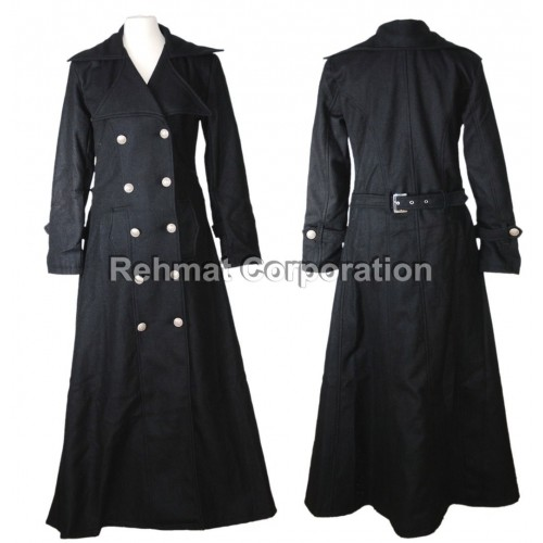 GOTHIC STYLE COTTON COAT STEAMPUNK GOTH WITH BUTTONS