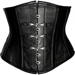 GENUINE LEATHER CORSET WITH HOOKS STEAMPUNK GOTH