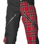 2015 Black gothic Men's Freak pants tartan red cotton material