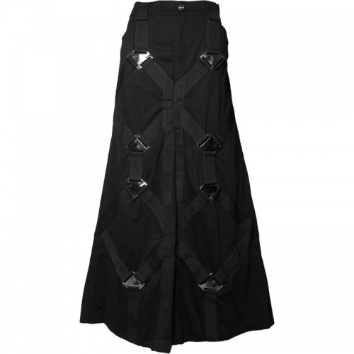 2015 Gothic Black Gothic metal men's skirt cotton material