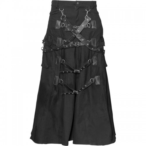 2015 Gothic Cyber-goth men's skirt cotton material