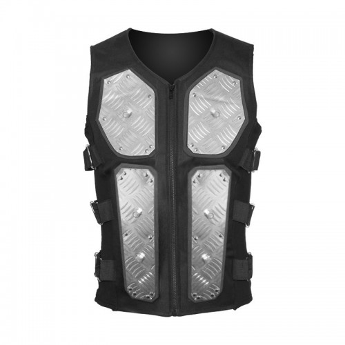 2015 Gothic black Onslaught MK II diamond-plated cyber bodice vest for men cotton material