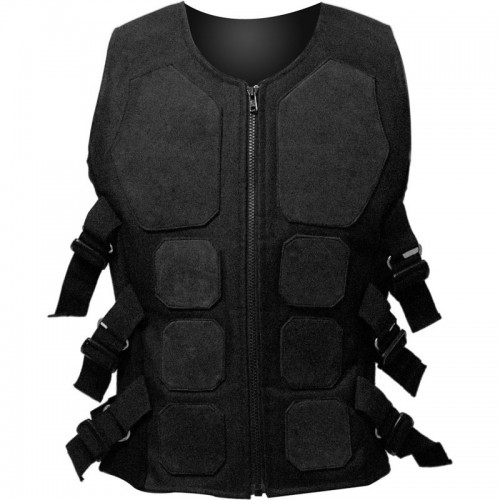 2015 Gothic black Scourge black rubber cyber bodice for men cotton material